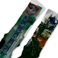 Transformers OPTIMUS PRIME Custom Nike Elite Socks
