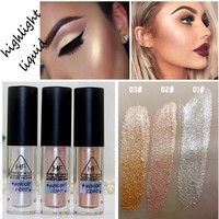 Face Brightener Highlighter Shimmer Stick  Glitter Liquid Highlighter Contour Stick Cosmetics