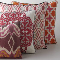 Multicolored Patterned Pillows
