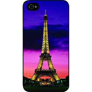 TabTM Eiffel Tower Paris France Black Hard Snap on Case Cover for Apple Iphone® 4 & 4s Universal: Verizon - Sprint - At&t - Great Affordable Gift!