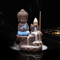 Creative Home Decor The Little Monk Censer Yixing Creative Backflow Stick Incense Burner  Home  Decoration