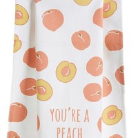 Nordstrom at Home 'You're A Peach' Dish Towel