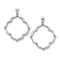 Venetian Frame Hoop Ear Posts | James Avery