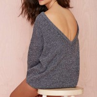Nasty Gal Drop It Sweater - Gray