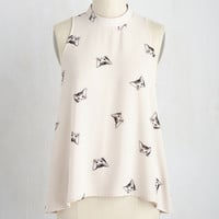 Zeal of Fortune Top in Cats | Mod Retro Vintage Short Sleeve Shirts | ModCloth.com