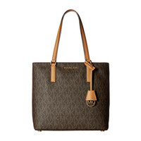 MICHAEL Michael Kors Morgan Medium Tote PVC Logo-Brown