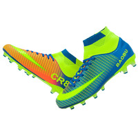 Protessional Adults Mens Unisex Outdoor Soccer Cleats Shoes TF/FG Soccer Football Boots Trainers Sports Sneakers Color Patchwork