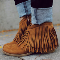 The Native Way Bootie - Tan