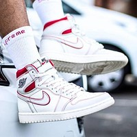 Nike AIR Jordan 1st generation AJ1 men's and women's classic basketball shoes high-top casual sports shoes 4