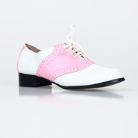 Pink & White Two Tone Saddle Shoes
