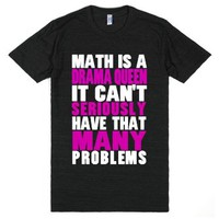 Math Drama-Unisex Athletic Black T-Shirt