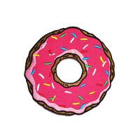 Doughnut Iron On Patch Embroidery Sewing DIY Customise Denim Cotton
