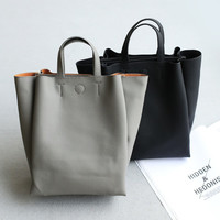 Double-layered Simple Design Bags One Shoulder Vintage Tote Bag [4915824580]