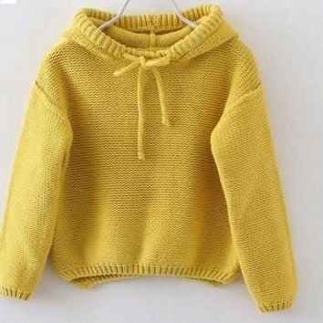 Kids Hooded pullover sweater -2 Colors