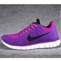 NIKE Women Men Running knit Sport Casual Shoes Sneakers Purple