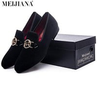 Man shoes luxury Metal people buckle man shoes casual luxury men's shoes casual shoes fashion