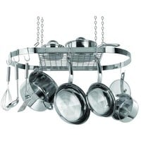 Stainless Steel Oval Pot Rack for Kitchen Cookware Storage