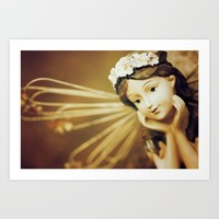 Daydreamer - Vintage Angel Art Print by Legends Of Darkness Photography