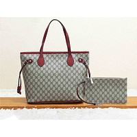 GUCCI hot seller casual lady shopping bag fashion printed patchwork two-piece shoulder bag #3