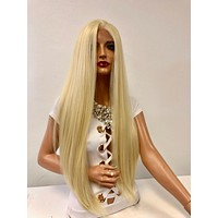 """Long Blond Swiss Lace Wig 28"""" Cami 121843"""