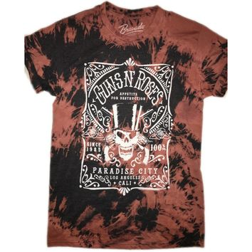 "Hand Bleached ""Paradise City"" Guns n Roses Band Tee"