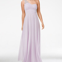 Sequin Hearts Juniors' Empire-Waist Sweetheart One-Shoulder Gown - Juniors Shop All Prom Dresses - Macy's