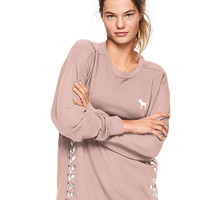 Campus Lace-Up Crew Tunic - PINK - Victoria's Secret
