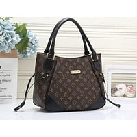 LV Fashion Full Print Colour Shopping Bag for Ladies One Shoulder Bag LV Black