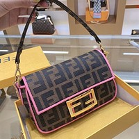 Fendi jacquard double F letter bag print chain bag shoulder bag crossbody bag