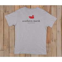 Southern Marsh Authentic Tee- Grey