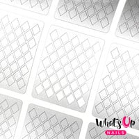 Whats Up Nails - Diamond Pattern Stencils