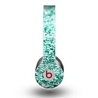 The Aqua Green Glimmer Skin for the Beats by Dre Original Solo-Solo HD Headphones