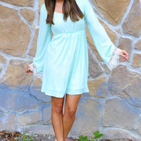 End Of The Line Dress: Spearmint | Hope's