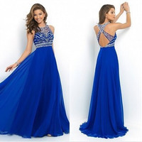 Fashion Prom Dress Ladies Sexy Sleeveless Backless Maxi Dress Formal Evening Party Date Cocktail Ball Gown Dress Bridesmaid Dress = 5841918593