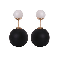 Gum Tee Mise en Style Tribal Earrings - Matte Black & White