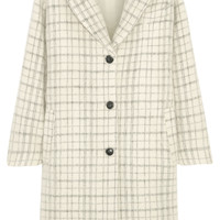 Paul & Joe - Maylis checked wool-blend coat