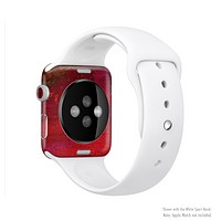 The Grungy Red Abstract Paint Full-Body Skin Kit for the Apple Watch