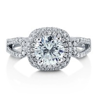 Sterling Silver Round Cubic Zirconia CZ Halo Ring 1.79 ct.tw7 Review(s) | Write A ReviewSKU# R864-01