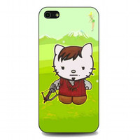 Cute Daryl Dixon Hello Kitty The Walking Dead For iphone 5 and 5s case