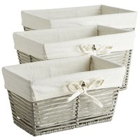 Gray Paper Rope Baskets