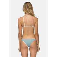 Jayden Color Block Hipster Bikini Bottom - Dusty Blue/Rose/White/Tan