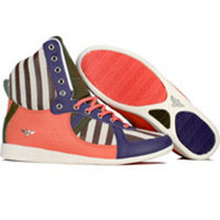 Creative Recreation Womens Galow High (grape / salmon / military green / stripe) - Shoes - R75HI38-GPSMS | PickYourShoes.com
