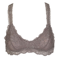 Racerback Lace Bralette In Taupe