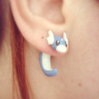 Pokemon Dratini Fake Ear Gauge / Plug Earring