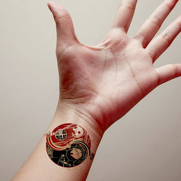 Yinyang Starwars Temporary Tattoo,Fashion Tattoo,Fake Tattoo
