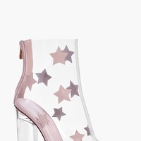 Lydia Star Trim Clear Peeptoe Boot