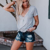 Simply For the Weekend Shorts - Dark Wash
