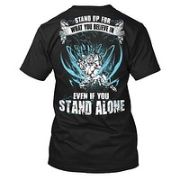 Super Saiyan - Stand up for what you believe in  -Men Short Sleeve T Shirt - SSID2016