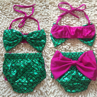 Toddler Kids Baby Girl Mermaid Swimsuit Tankini Bikini Set Summer Children Swimwear Bathing Suit