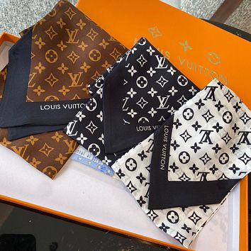 LV Louis Vuitton New Silk Bow Tie Multifunctional Banding Scarf Ribbon